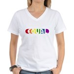 Equal Rainbow Women's V-Neck T-Shirt