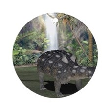 Euoplocephalus, artwork Round Ornament