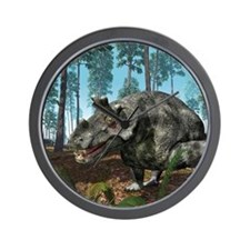 Estemmenosuchus, artwork Wall Clock