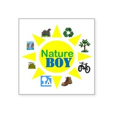 "natureboy Square Sticker 3"" x 3"""