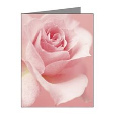 Pink rose Note Cards (Pk of 10)