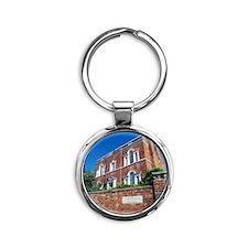 Erasmus Darwin House Round Keychain
