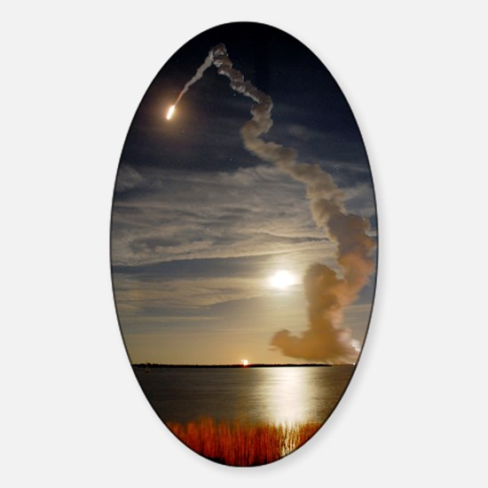 Endeavour shuttle launch, mission S Sticker (Oval)