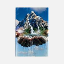 Environmental care, conceptual im Rectangle Magnet