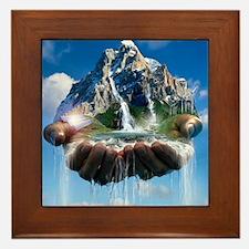 Environmental care, conceptual image Framed Tile