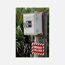 Emergency telephone Rectangle Magnet