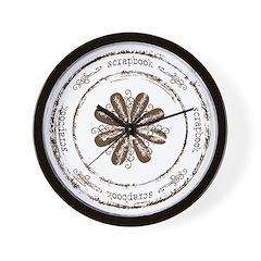 Scrapbook Wall Clock