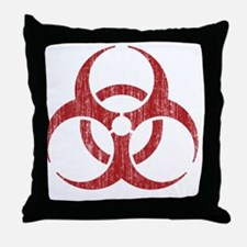 Vintage Biohazard Throw Pillow