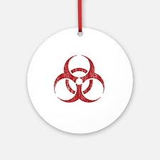 Vintage Biohazard Round Ornament