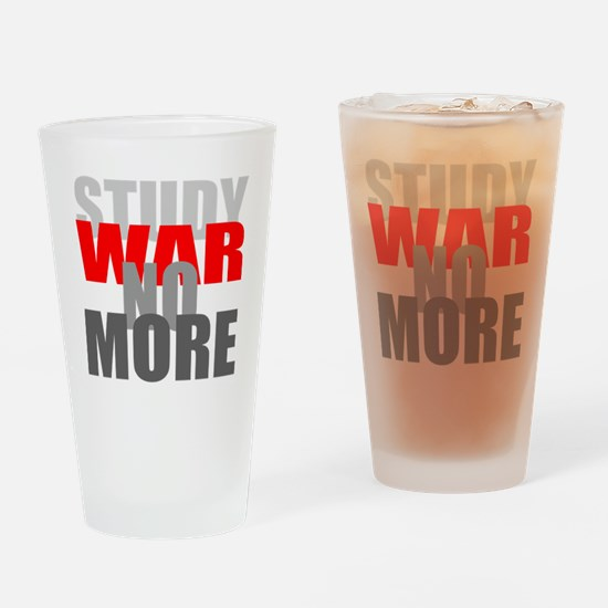 No More War Dark Drinking Glass
