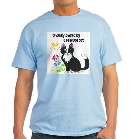 """Rescued Cat"" Light T-Shirt"