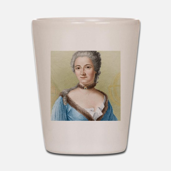 Emilie du Chatelet, French physicist Shot Glass