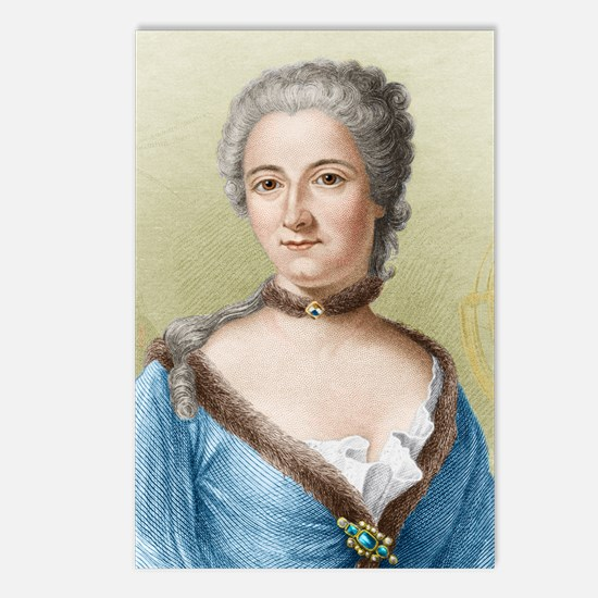Emilie du Chatelet, Frenc Postcards (Package of 8)