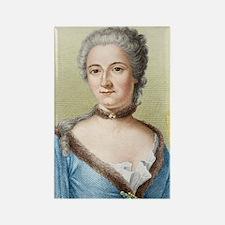 Emilie du Chatelet, French physic Rectangle Magnet