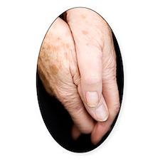 Elderly woman's hands Decal