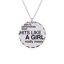 Hit Like a Girl Necklace