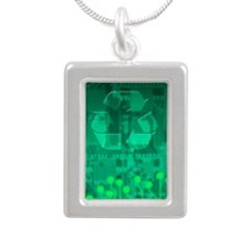 Electronics recycling, a Silver Portrait Necklace
