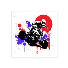 "Red Splatter ATV Square Sticker 3"" x 3"""