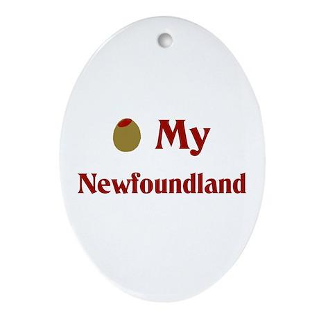 Olive My Newfoundland Oval Ornament