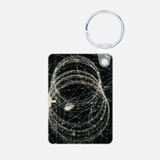 Electron and positron spir Keychains