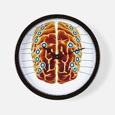 Electroencephalography, artwork Wall Clock