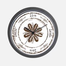 live, laugh, love, learn Wall Clock
