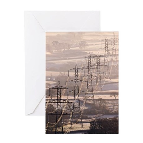 Electricity pylons Greeting Card