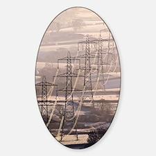 Electricity pylons Sticker (Oval)