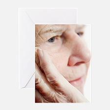Elderly woman resting Greeting Card