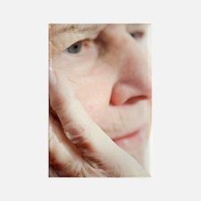 Elderly woman resting Rectangle Magnet