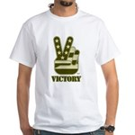 Victory Sign White T-Shirt