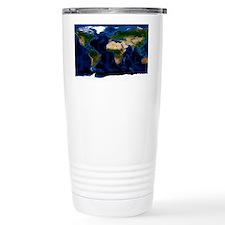 Earth, topographic and bathymet Travel Mug