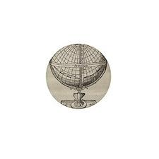 Earth globe, 16th century artwork Mini Button
