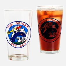 uss spinax ssr patch transparent Drinking Glass