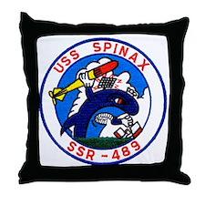 uss spinax ssr patch transparent Throw Pillow