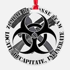 Zombie Response Team White Border Ornament