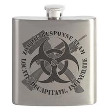 Zombie Response Team White Border Flask