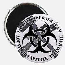 Zombie Response Team White Border Magnet