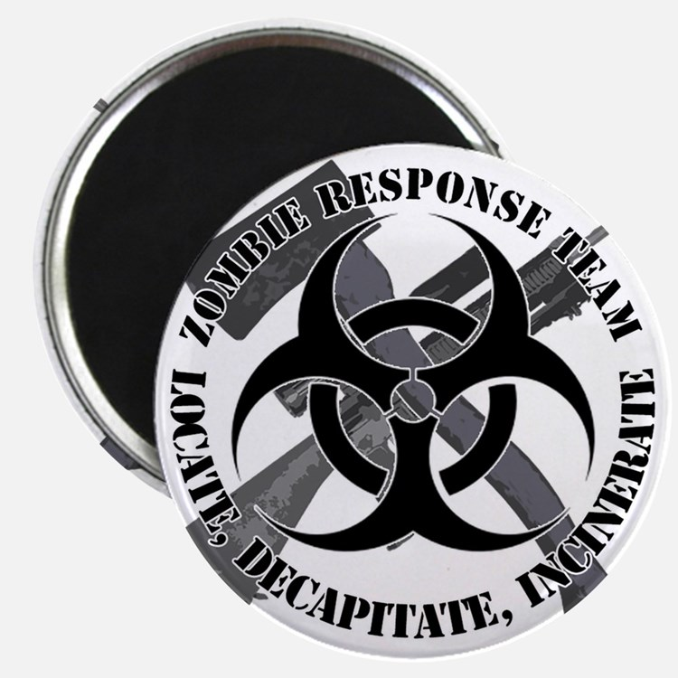 Zombie Response Team White Border Magnet