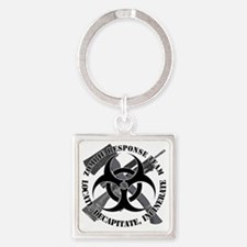 Zombie Response Team White Border Square Keychain