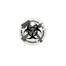 Zombie Response Team White Border Mini Button