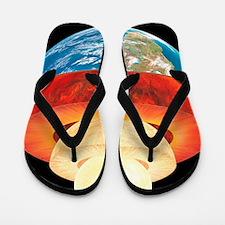 Earth layers, artwork Flip Flops