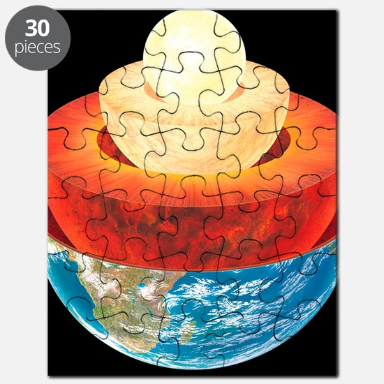 Earth layers, artwork Puzzle