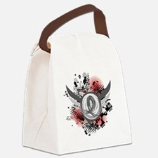 D Brain Cancer Grey Ribbon And Wi Canvas Lunch Bag