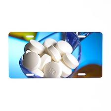 Drug overdose, conceptual i Aluminum License Plate