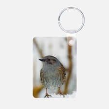 Dunnock perched on a garde Keychains