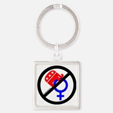 Just Say No! Square Keychain