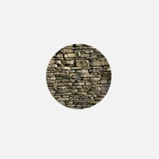 Dry stone wall, Dorset Mini Button