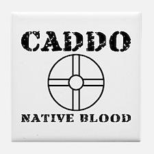 Caddo Native Blood Tile Coaster
