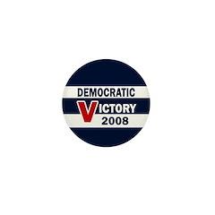 Democratic Victory 2008 Mini Button (100 pack)
